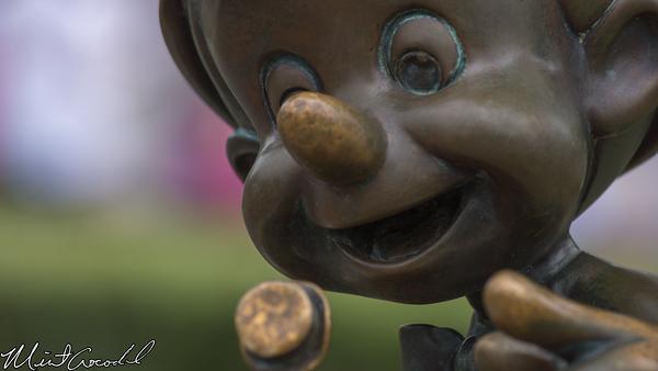 Disneyland Resort, Disneyland, Hub, Partners Statue, Pinocchio, Selfie, Selfi