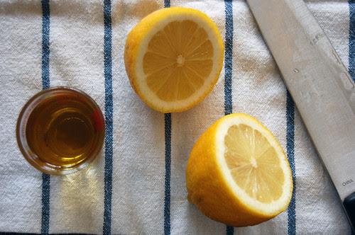 lemons, olive oil