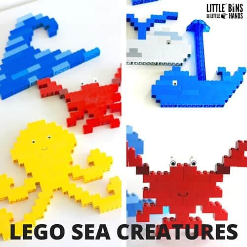 LEGO Ocean Animals for an Under The Sea Theme