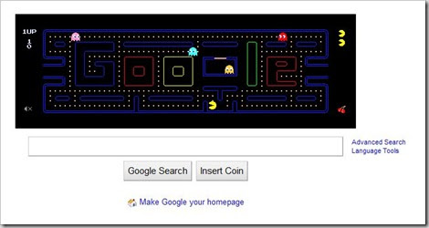 Google Pacman 5 fun things you should try on Google!