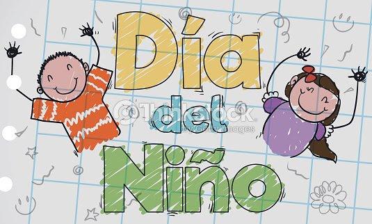 Lindo Dibujo Infantil En Español Para Celebrar El Día Del Niño Arte