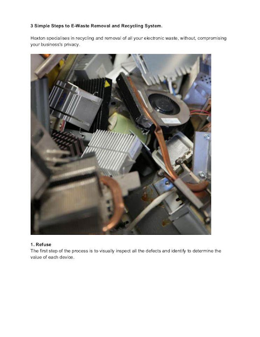 3 Simple Steps to E-Waste Removal and Recycling System