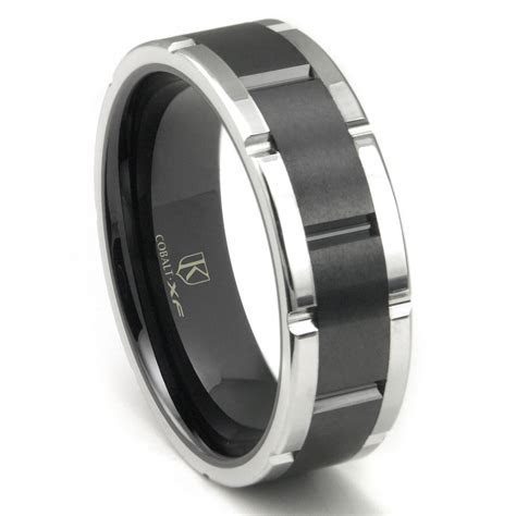 Cobalt XF Chrome 8MM Two Tone Matte Finish Center Wedding