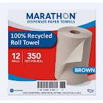 Marathon 1 Ply Dispenser Roll Towel - 12 ct