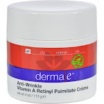 Derma E Vitamin A Retinyl Palmitate Wrinkle Treatment Creme - 4 oz jar