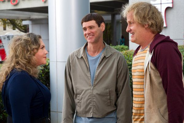 Lloyd and Harry find out that Harry may have a daughter with Fraida Felcher (Kathleen Turner) in DUMB AND DUMBER TO.