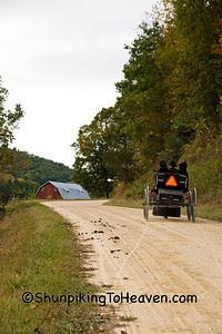 Sunday Evening Amish Buggy Ride, Vernon County, Wisconsin
