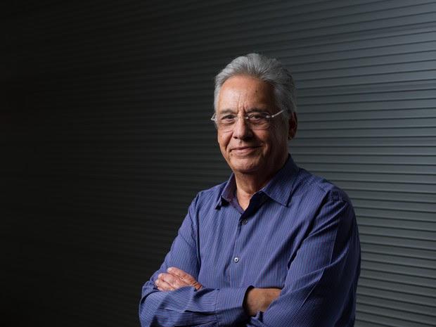 O ex-presidente Fernando Henrique Cardoso posa para foto no Instituto Fernando Henrique Cardoso (iFHC) em São Paulo, em março de 2012 (Foto: Yasuyoshi Chiba/AFP)