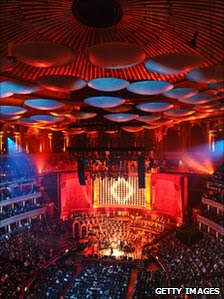 A view of the Royal Albert Hall's interior during the gala