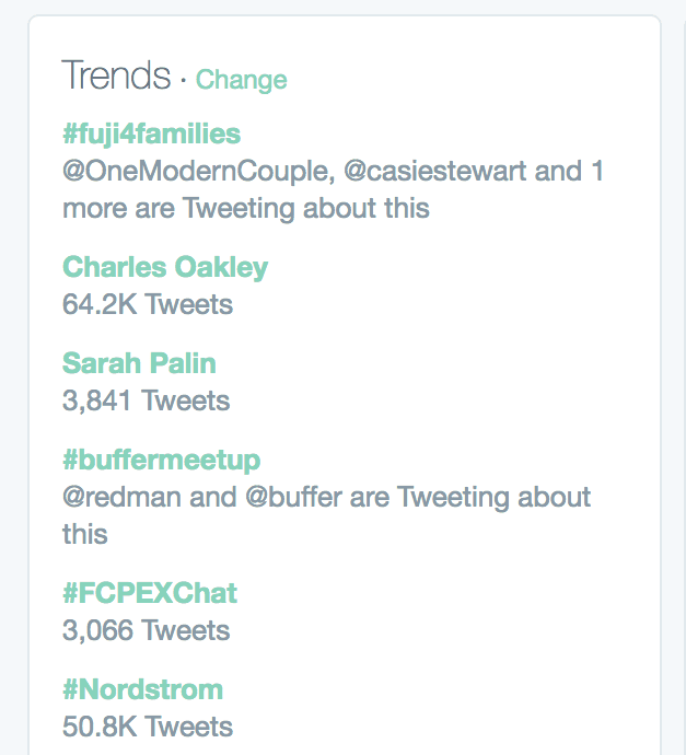 #buffermeetup trending on Twitter