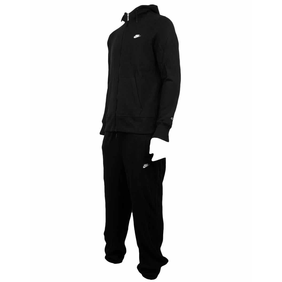 mens boys nike black fleece full jogging suit tracksuit