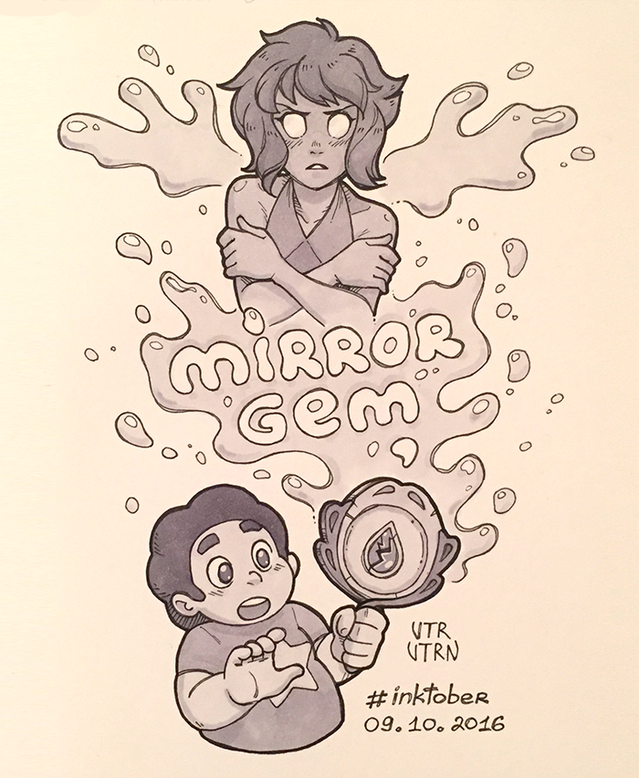 "Inktober - Day 9 Episode 1-25 ""Mirror Gem"" ART TAG"