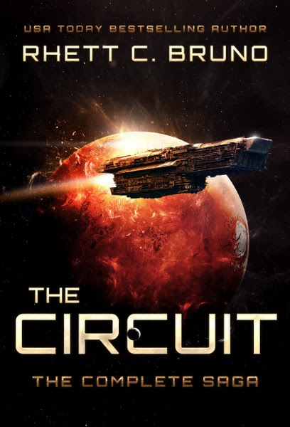 Book Cover for science fiction / space opera The Circuit:  The Complete Saga by Rhett C. Bruno.