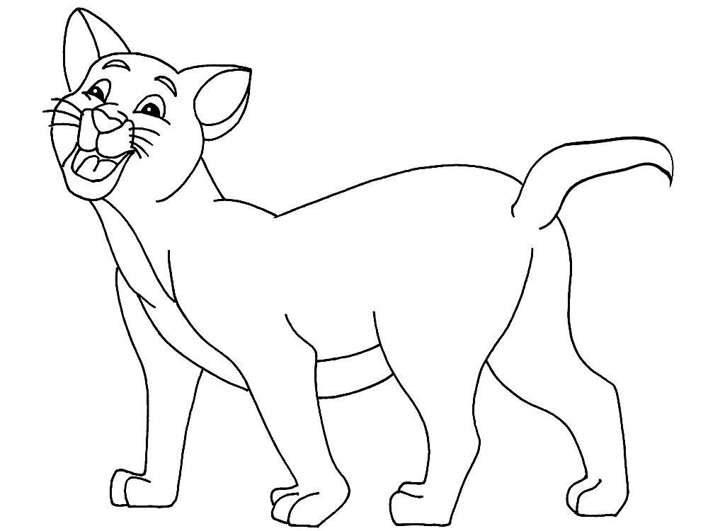 Imprimir Imágenes Dibujos Para Colorear Gato Para Niños Y Niñas