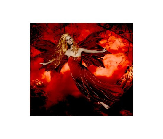 red women Mystical Magic Glitter Graphics Fantasy