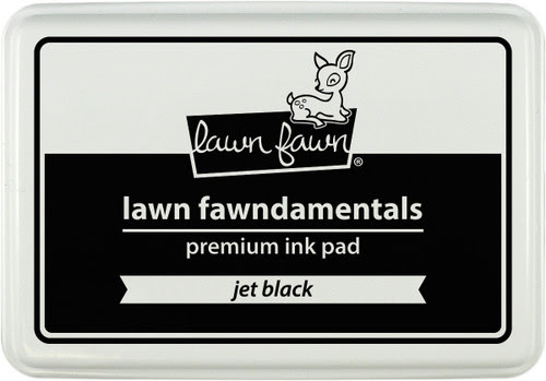 Lawn Fawn Ink Pad - Jet Black Premium Ink
