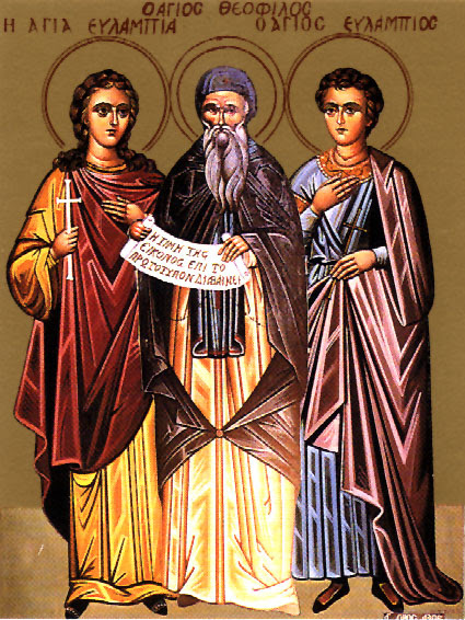 IMG STS. EULAMPIUS, tHEOPHILUS and EULAMPIA