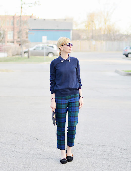 Plaid Pants Style for Fall | Stripes 'n' Vibes
