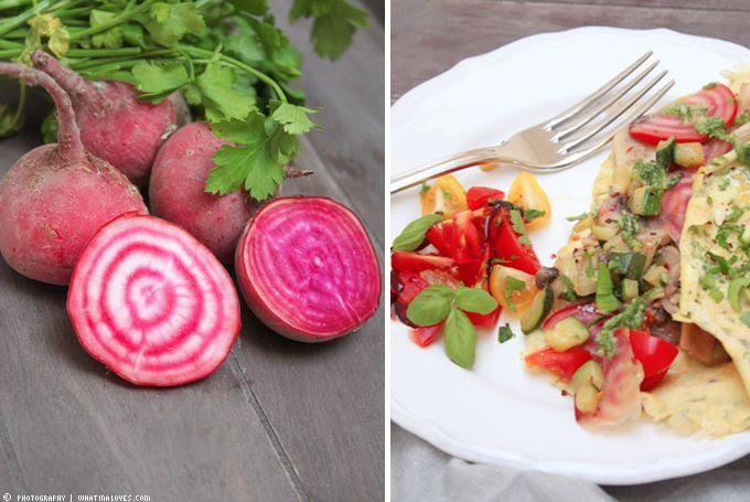 Omlette Gemüse Vegetarisch Rote Beete