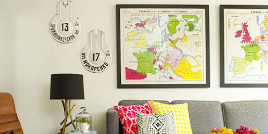 Remodelaholic | 20 Free Vintage Map Printable Images