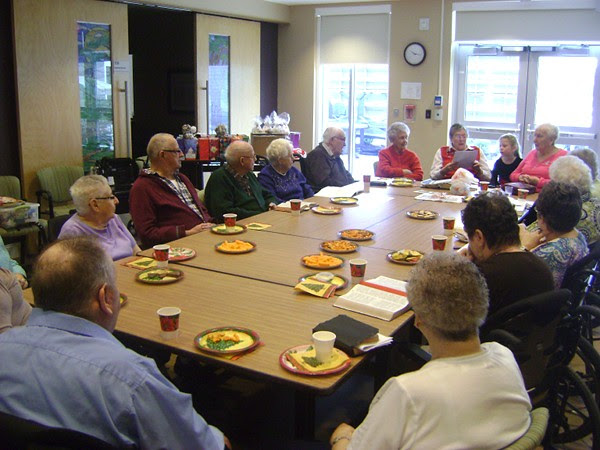 group at Bible study