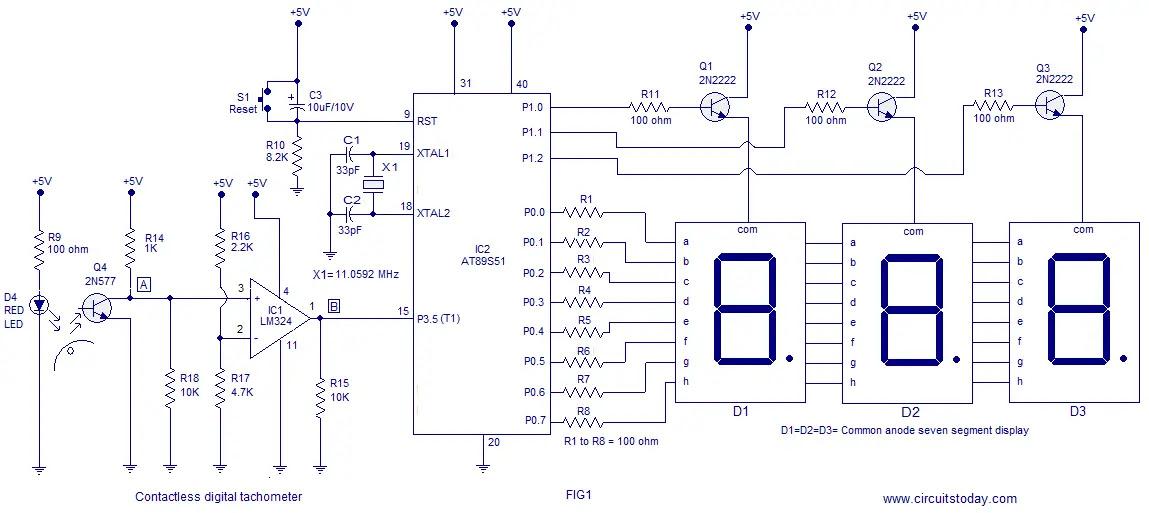 Circuit Diagram Of Tachometer