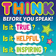 Image: Amazon.com : Think Before You Speak Positive Poster : Office Products
