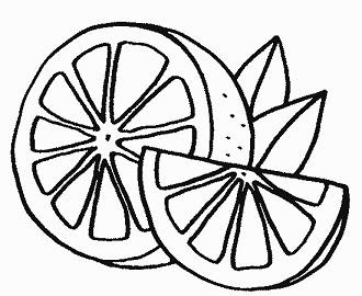 Dibujo Para Colorear De Un Limón Fruta Saludable Para Niños