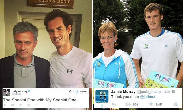 Judy Murray calls son Andy 'My Special One' and other son Jamie reacts