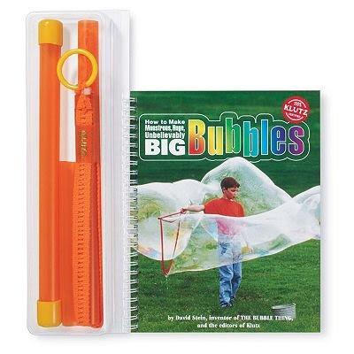Klutz How to Make Monstrous, Huge, Unbelievably Big Bubbles Handbook toy gift idea birthday