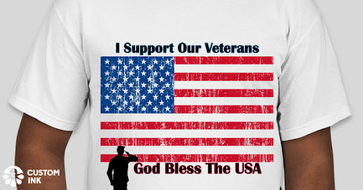 I Support Our Veterans Custom Ink Fundraising