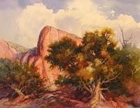 Watercolor painting award of merit Utah Watercolor Society Spring 2008