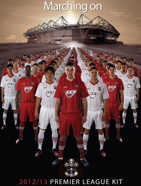 Southampton New Kit 2012-13- Umbro unveil new Saints 2012-2013 Premier League Home & Away Shirts