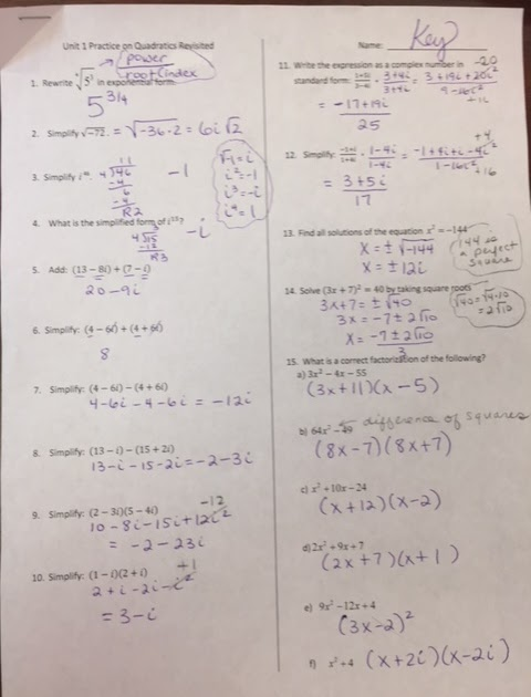 Gina Wilson All Things Algebra 2015 Answer Key Unit 4 ...