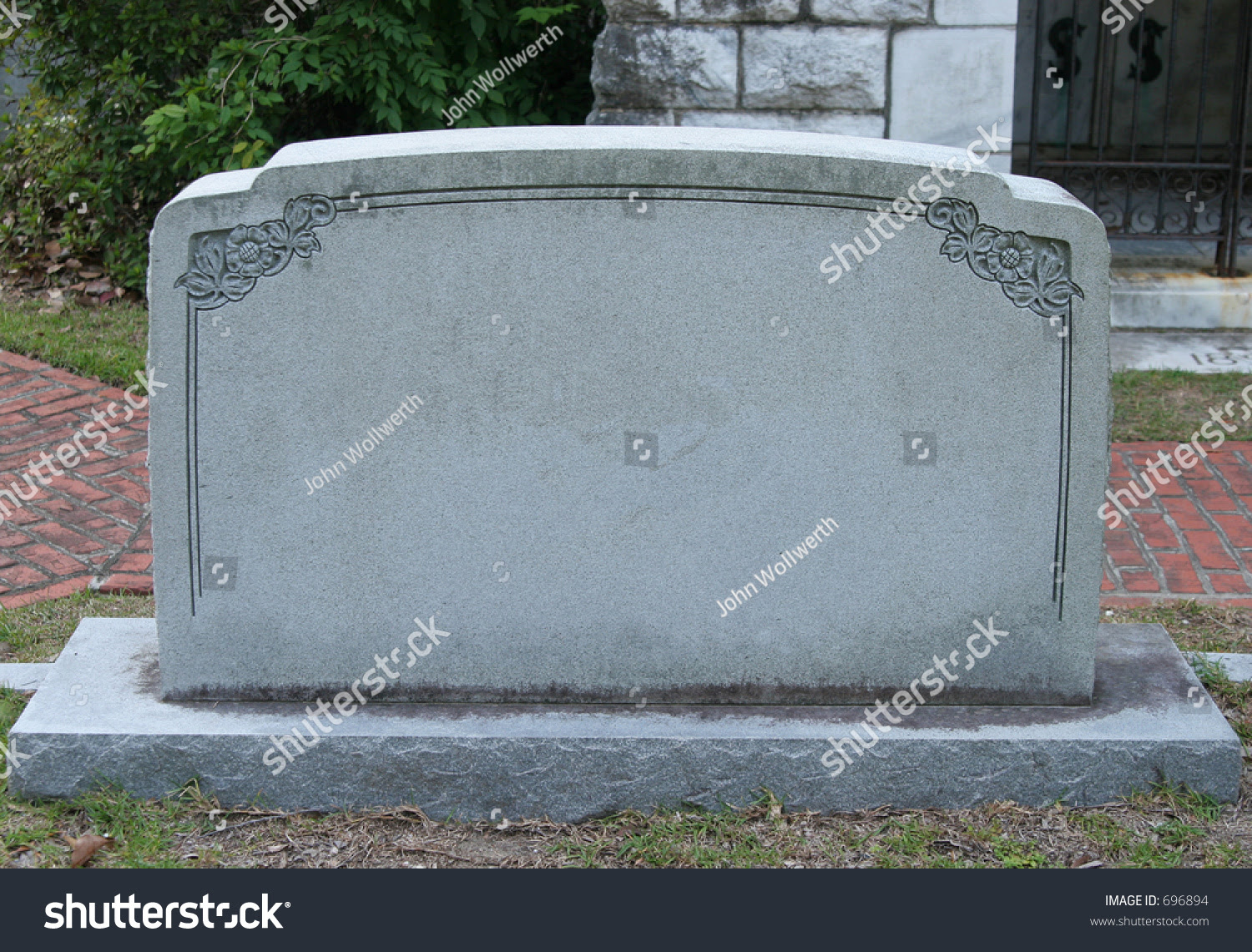 Blank Tombstone You Can White Your Stock Photo 696894 - Shutterstock