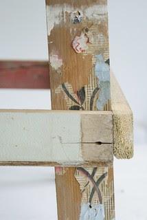 wood & wool stool