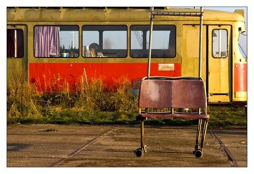 oude tram op NDSM werf