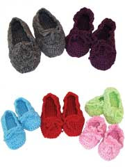 Family Time Slippers Crochet Pattern Pack