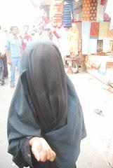 A Muslim Beggar ..Hides Her Face ...Allah Be Praised by firoze shakir photographerno1