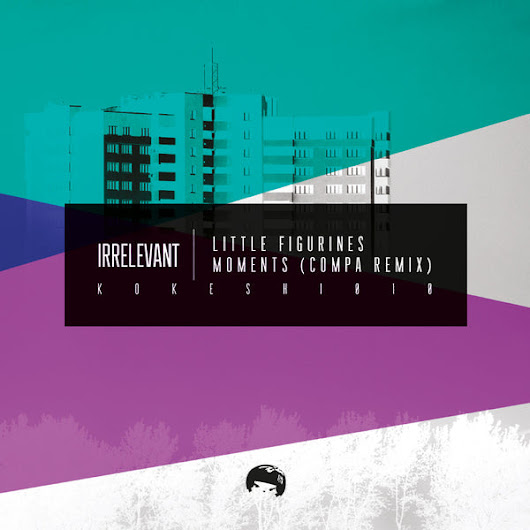 Irrelevant 'Little Figurines' / Moments (Compa Remix) Light Pink Coloured 12""