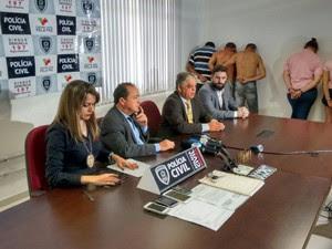 Os detalhes sobre o caso foram divulgados durante uma entrevista coletiva na manhã desta terça-feira (28), na Central de Polícia de João Pessoa (Foto: André Resende/G1)
