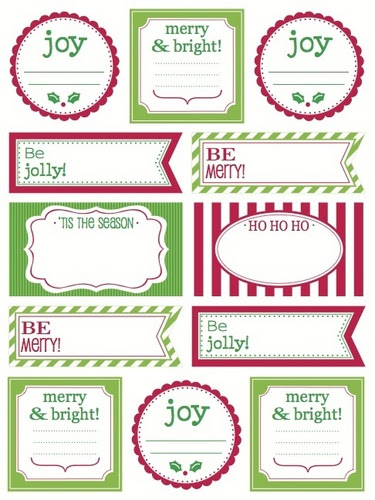 Labels by the Dozen - Christmas Greetings picture
