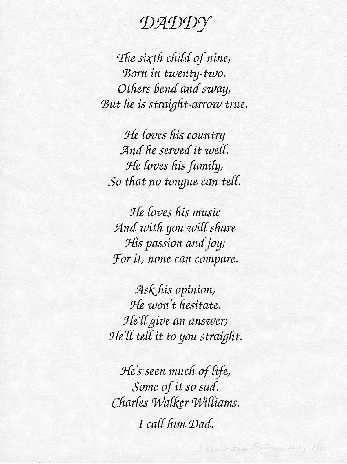 Father And Daughter Poems Or Quotes Motivational Quotes