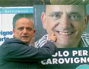 L'ex deputato Cosimo Mele, rinviato a giudizio  per un festino a luci rosse, nel 2007.  Si è candidato in Puglia