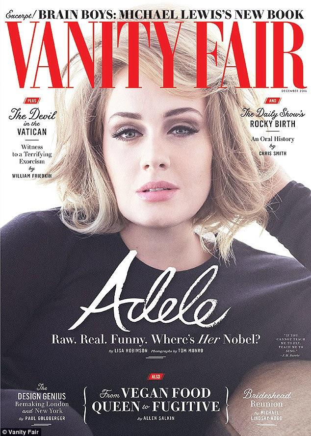 """Battle: Adele revelou em entrevista à Vanity Fair que ela é """"muito medo"""" de ter outro filho, depois de sofrer pós-parto após a 2012 nascimento de seu filho Angelo"""