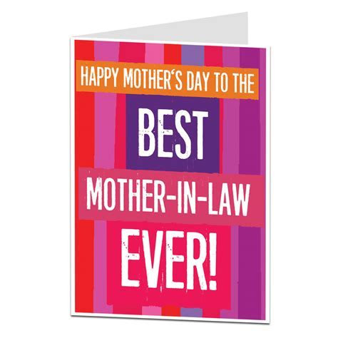 Mother in Law Mother's Day Card   LimaLima