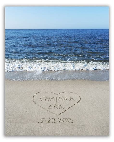 Names in Sand   Personalized Beach Art Prints