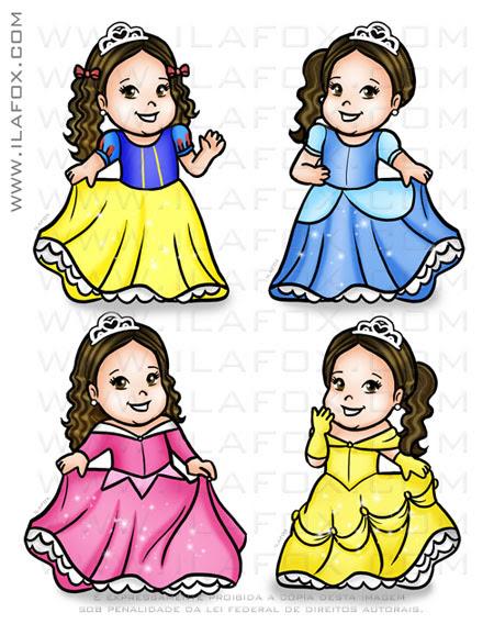 Caricatura fofinha, caricatura princesa, caricatura simples, caricatura infantil, by ila fox