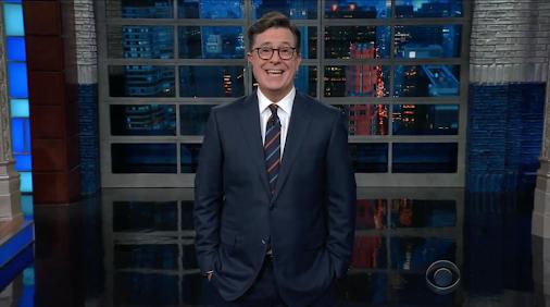 Al Franken gets slammed by Steven Colbert after Leeann Tweeden accuses the senator of groping. http:...