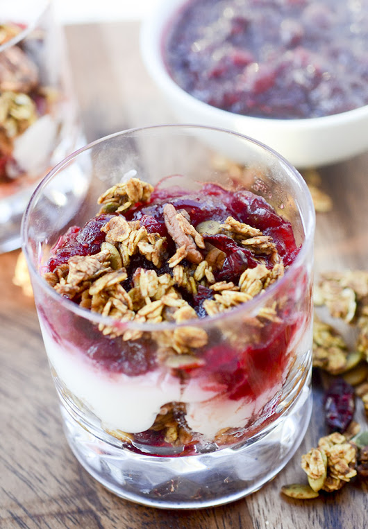 Pumpkin Granola and Orange Cranberry Yogurt Parfaits – Recipe Diaries